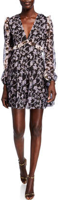 La Maison Talulah Blooming Long-Sleeve Ruffle Mini Dress