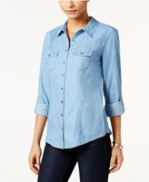 Style&Co. Style & Co Denim Utility Shirt, Only at Macy's