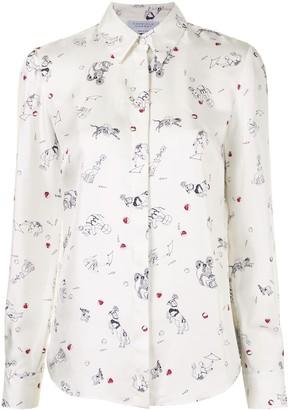 Gabriela Hearst Henri Circus-print long sleeved shirt