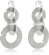 Rebecca R-Zero Rhodium Over Bronze Dangle Earrings