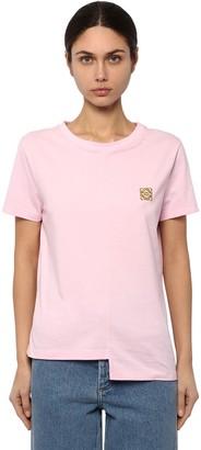 Loewe Asymmetric Anagram Cotton Jersey T-shirt