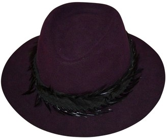 Maison Michel Purple Wool Hats