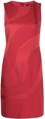 Paule Ka Satin Panel Dress