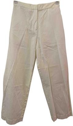 Nicole Farhi White Cotton Trousers for Women Vintage