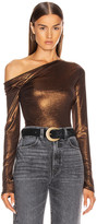 Alix Nyc ALIX NYC Willett Metallic Bodysuit in Bronze | FWRD