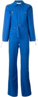 Jc De Castelbajac Pre Owned Denim Patch Boiler Suit