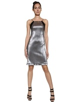 Interlocking Metallic Techno Dress