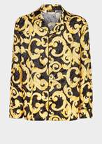Versace Medusa-Barocco Silk Pajama Shirt
