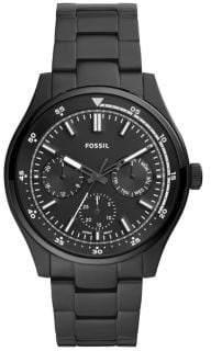 Fossil Belmar Multifunction Black-Tone Stainless Steel Bracelet Chronograph Watch