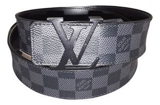 Louis Vuitton Anthracite Leather Belts