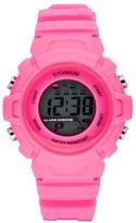 Titanium Girl's Lcd Waterproof Sport Watch