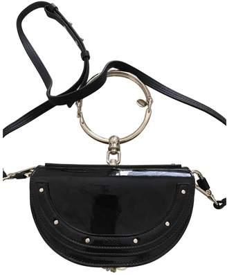 Chloé Bracelet Nile Navy Patent leather Handbags