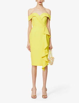 Lavish Alice Bardot ruffle-detail crepe midi dress