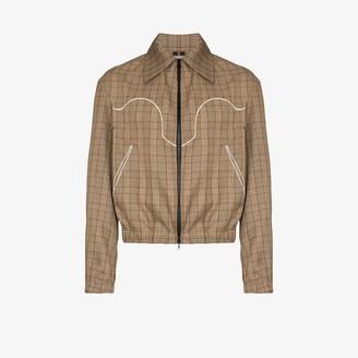 Boramy Viguier Check bomber jacket