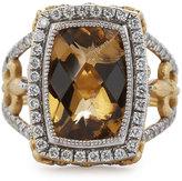 Jude Frances 18k Champagne Citrine & Diamond Cocktail Ring, Size 6.5