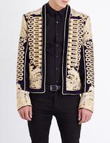 Balmain Rope-embroidered velvet jacket
