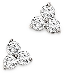 Bloomingdale's Diamond Three Stone Stud Earrings in 14K White Gold, 1.50 ct. t.w. - 100% Exclusive