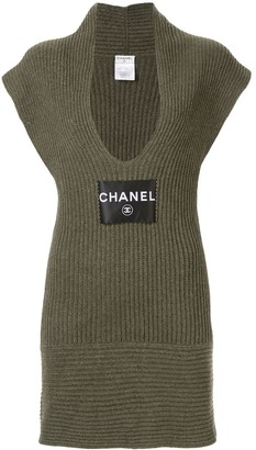 Chanel Pre Owned Sleeveless One Piece Dress