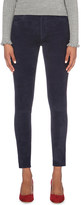 MiH Jeans Bridge skinny high-rise suede jeans