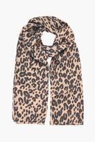 Boohoo Felicity Leopard Print Lightweight Scarf