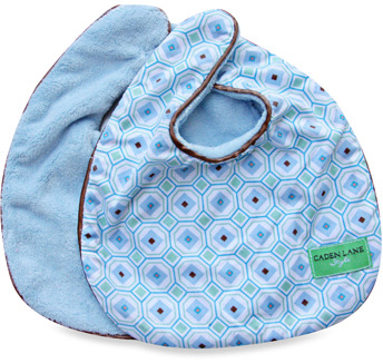 Caden Lane Bib 2-Pack - Blue Solid & Blue Octagon