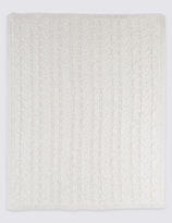 Marks and Spencer Pure Cotton Cable Knitted Shawl