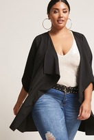 Forever 21 FOREVER 21+ Plus Size Draped Crepe Cardigan