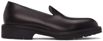 Dries Van Noten Black Leather Loafers