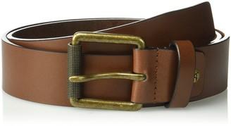 Stacy Adams Men's 38mm Genuine Leather Jean Belt with Brass Roller Buckle