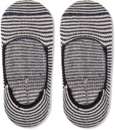 Anonymous Ism - Striped Cotton-blend No-show Socks