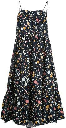 Simon Miller geometric flared midi dress