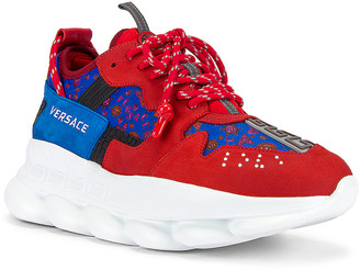 Versace Sneaker in Red & Multi | FWRD