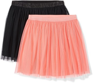 Amazon Brand - Spotted Zebra Girls' Big Kid 2-Pack Tutu Skirts