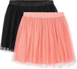 Spotted Zebra Girl's 2-pack Tutu Skirt
