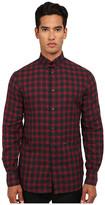 DSQUARED2 Tab Checks Cotton Button Up Shirt