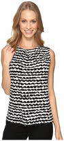 Calvin Klein Printed Pleat Neck Cami