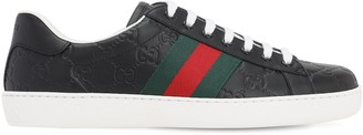 Gucci 50mm Ace Signature Leather Sneaker
