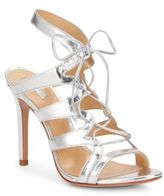 Schutz Dubiana Metallic Leather Lace-Up Pumps