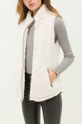 Faith Apparel Sherpa Fleece Zip Up Vest