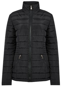 Dorothy Perkins Womens **Tall Black Padded Jacket With Recycled Wadding, Black