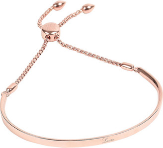 Monica Vinader Fiji 18ct rose gold-plated and diamond-pave friendship bracelet