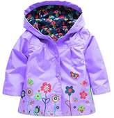 Wennikids Baby Girl Kid Waterproof Floral Hooded Coat Jacket Outwear Raincoat Hoodies Large