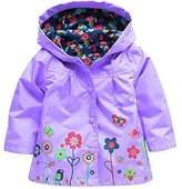 Wennikids Baby Girl Kid Waterproof Floral Hooded Coat Jacket Outwear Raincoat Hoodies Small
