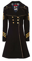 History Repeats Military Coat: Black