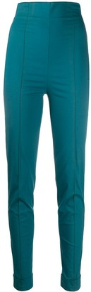 Romeo Gigli Pre Owned 1990s High Rise Stretch Trousers