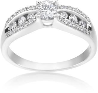Summerrose Jewelry SummerRose 14k White Gold 1/2ct TDW Vintage Engagement Diamond Ring