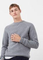 MANGO MAN Raglan Sleeve Wool-Blend Sweater