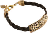 Barse FINE JEWELRY Art Smith by Floral Brown Leather Bracelet