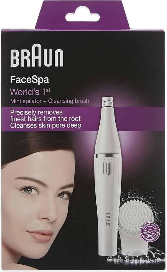 Braun Facespa epilator and cleansing brush