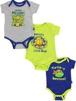 """Teenage Mutant Ninja Turtles TMNT Baby Boys' """"Turtle-y Awesome!"""" 3-Pack Bodysuits"""